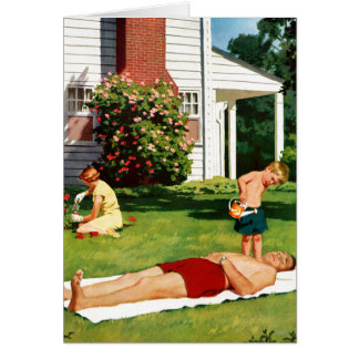 Cartão Pai molhando