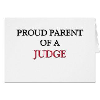 Cartão Pai orgulhoso de um JUIZ