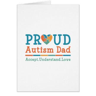 Cartão Pai orgulhoso do autismo