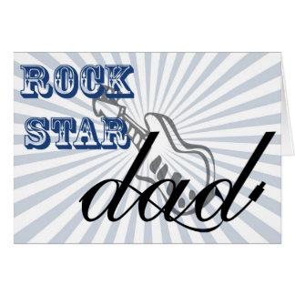 Cartão pai rockstar bonito, cumprimentos do dia dos pais