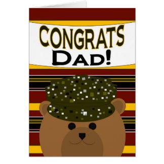 Cartão Pai - soldado Congrats do exército!