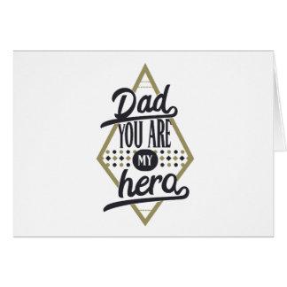 Cartão Pai, você é meu herói
