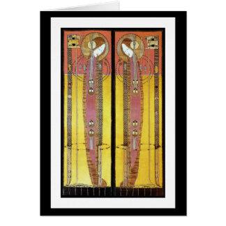 Cartão: Painéis bordados Macdonald de Margaret Cartão