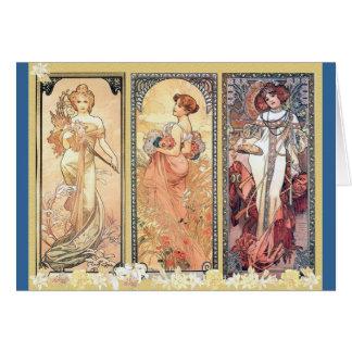 Cartão Painel do ~ de Mucha de três