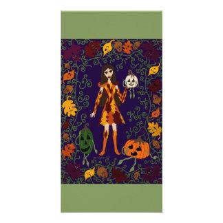 Cartão País das fadas do outono
