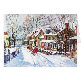 Cartão País das maravilhas do inverno