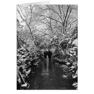 Cartão País das maravilhas do inverno de NYC