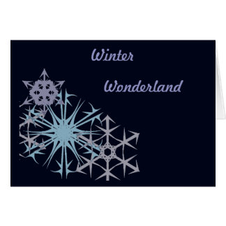 Cartão País das maravilhas do inverno do floco de neve do