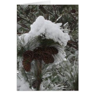 Cartão País das maravilhas III do inverno