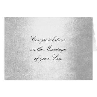 Cartão Pais do encanto da prata dos parabéns da noiva