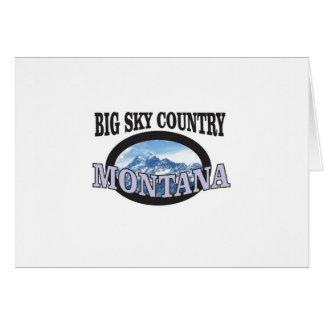 Cartão país grande Montana do céu