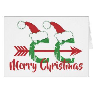 Cartão País transversal do © engraçado do Natal