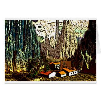 Cartão Paisagem bávara abstrata