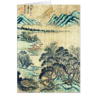 Cartão Paisagem chinesa 1730