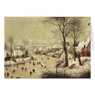 Cartão Paisagem com uma armadilha do pássaro - 1565 do