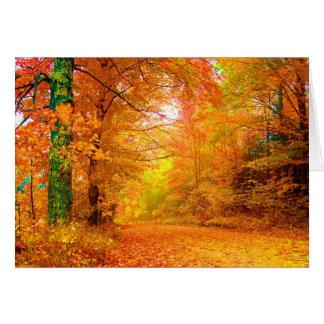 Cartão Paisagem da multa da natureza do outono de Vermont