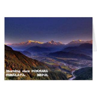 Cartão Paisagem da vista: HIMALAYA POKHARA NEPAL