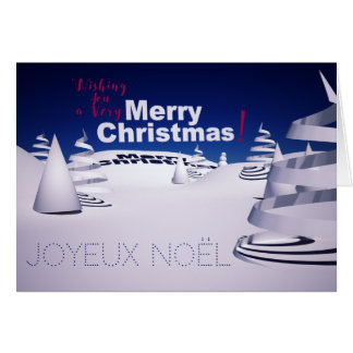 Cartão Paisagem de Neve 3D computador Arte Mapa de Natal