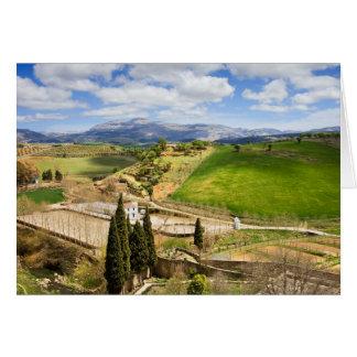 Cartão Paisagem do campo da Andaluzia na espanha