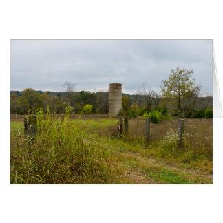 Cartão Paisagem do silo do país de origem