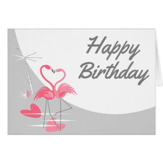 Cartão Paisagem do texto do aniversário da lua do amor do