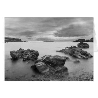 Cartão Paisagem em Shetland ocidentais