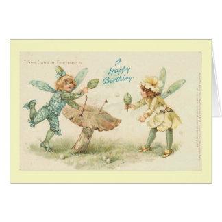 Cartão Países das fadas do feliz aniversario