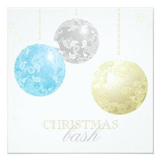Cartão Paisley de brilho Ornaments a festa de Natal