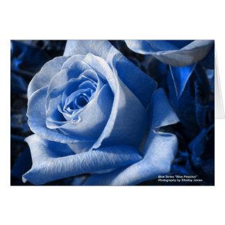 Cartão Paixão azul da série azul