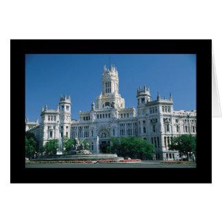 Cartão Palácio das comunicações de Madrid