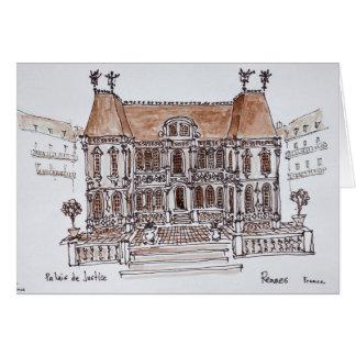 Cartão Palais de Justiça Tribunal   Rennes, Brittany