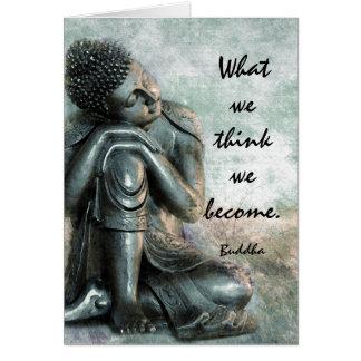 Cartão Palavras calmas de Buddha da sabedoria