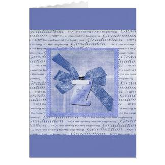 Cartão Palavras da graduação, arco grande com o diploma,