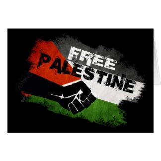 Cartão Palestina livre - do rio ao mar