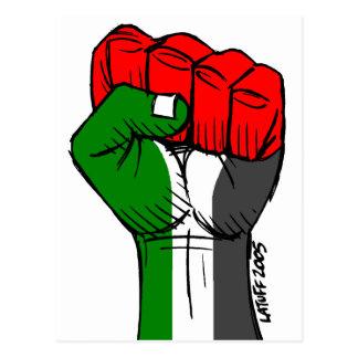 Cartão palestino do punho de Carlos Latuff