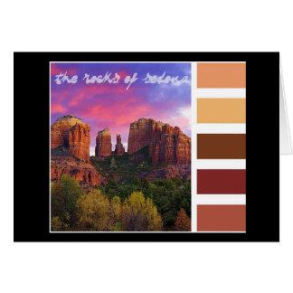 Cartão Paleta da pintura: as rochas de Sedona