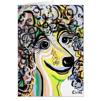 Cartão Paleta de cores Pastel macia da caniche