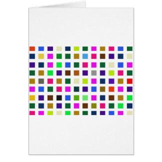 Cartão Paleta de cores ruidosa abstrata