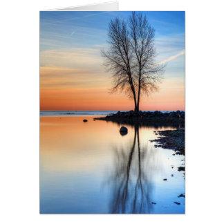 Cartão Paleta do nascer do sol