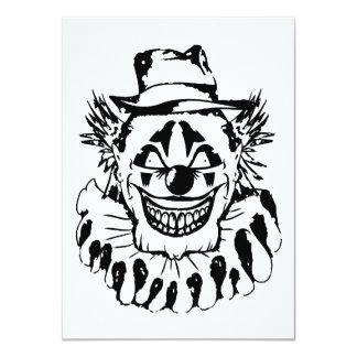 Cartão Palhaço assustador mau o Dia das Bruxas