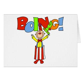 Cartão Palhaço de Boing