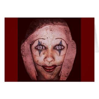 Cartão Palhaço de Raggedy-Ann do palhaço com olhos de
