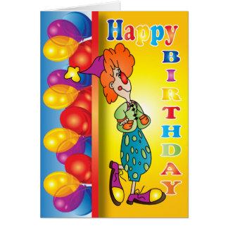 Cartão Palhaço do feliz aniversario