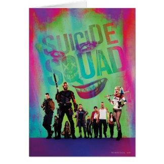 Cartão Palhaço do pelotão | do suicídio & cartaz