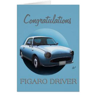 Cartão pálido dos parabéns do carro de Nissan