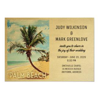 Cartão Palm Beach que Wedding a palmeira da praia do
