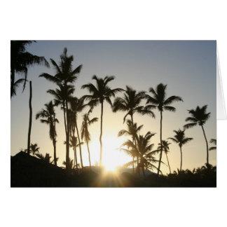Cartão Palmas do nascer do sol com verso da bíblia