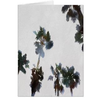 Cartão Palmas tropicais