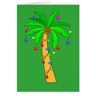 Cartão Palmeira decorada para o Natal