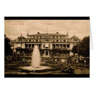 Cartão Palmengarten, vintage de Francoforte, Alemanha
